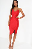 Cam Red Strapless Taffeta Dress