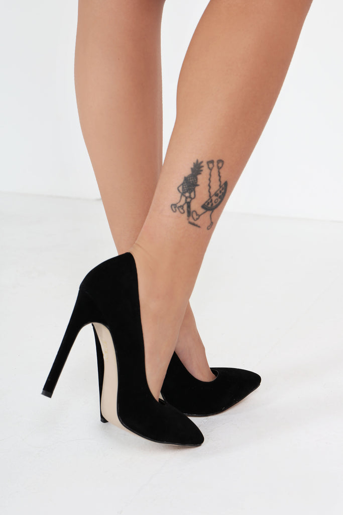 Camilla Black Suede Stiletto