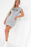 Cass Grey 'Cleveland' Hooded T-Shirt Dress