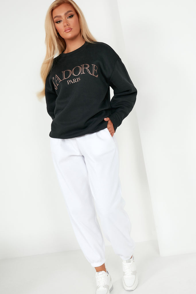 "Cazza Black ""J'adore"" Sweater"