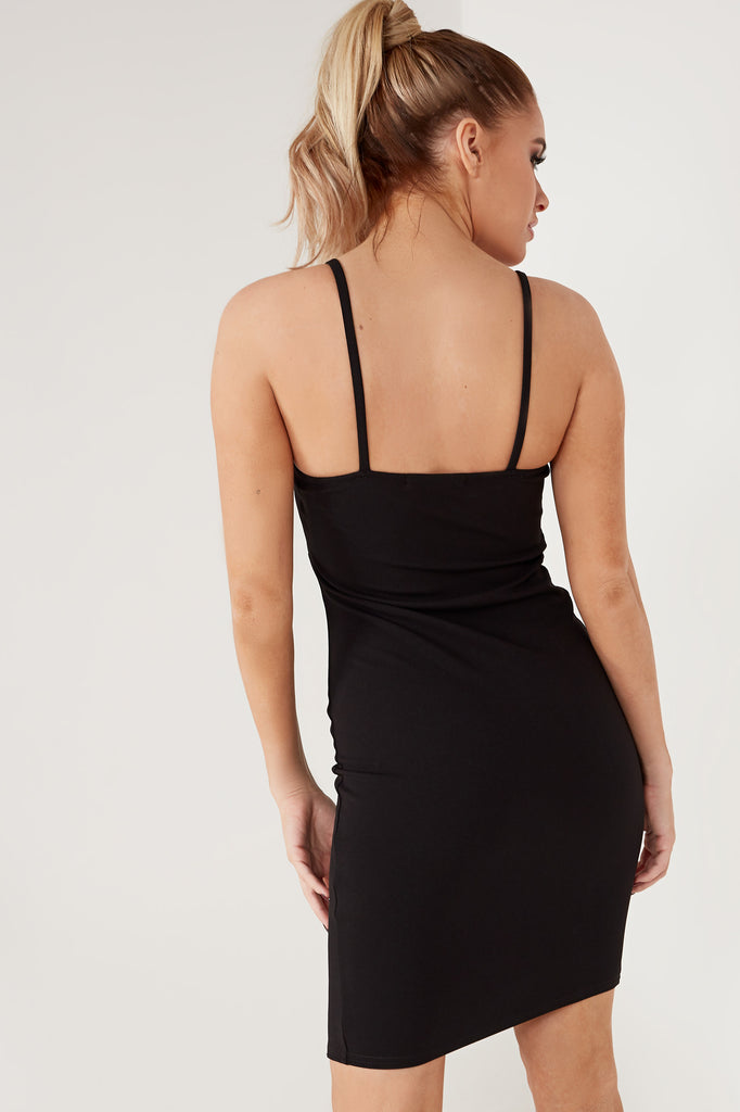 Cepta Black Diamante Cami Mini Dress