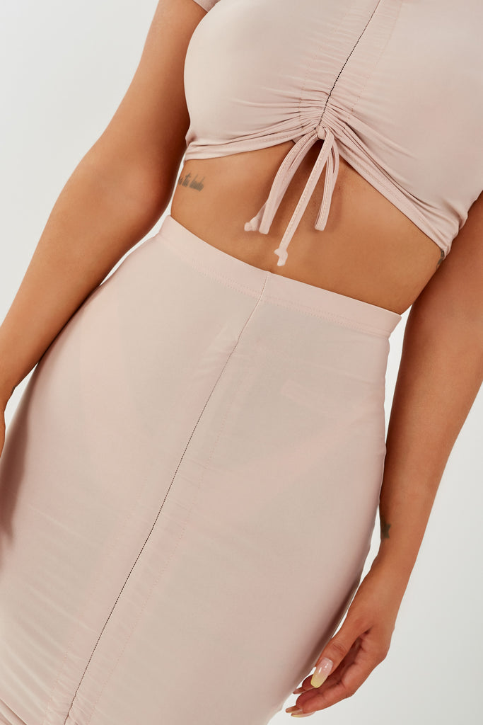 Cia Nude Slinky Skirt Co-Ord (1938030723138)