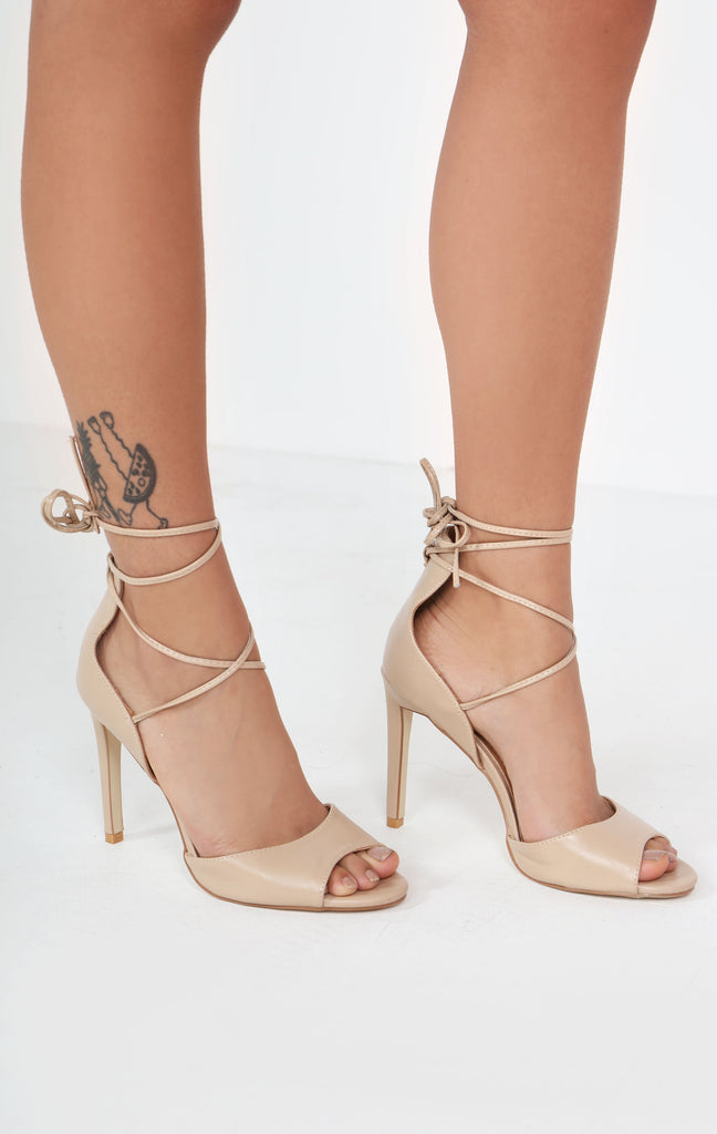 Cia Nude Wrap Around Sandals