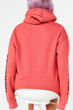 Claudia Deep Coral World Wide Hoodie