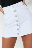 Cody White Washed Denim Button Skirt (1724215394370)