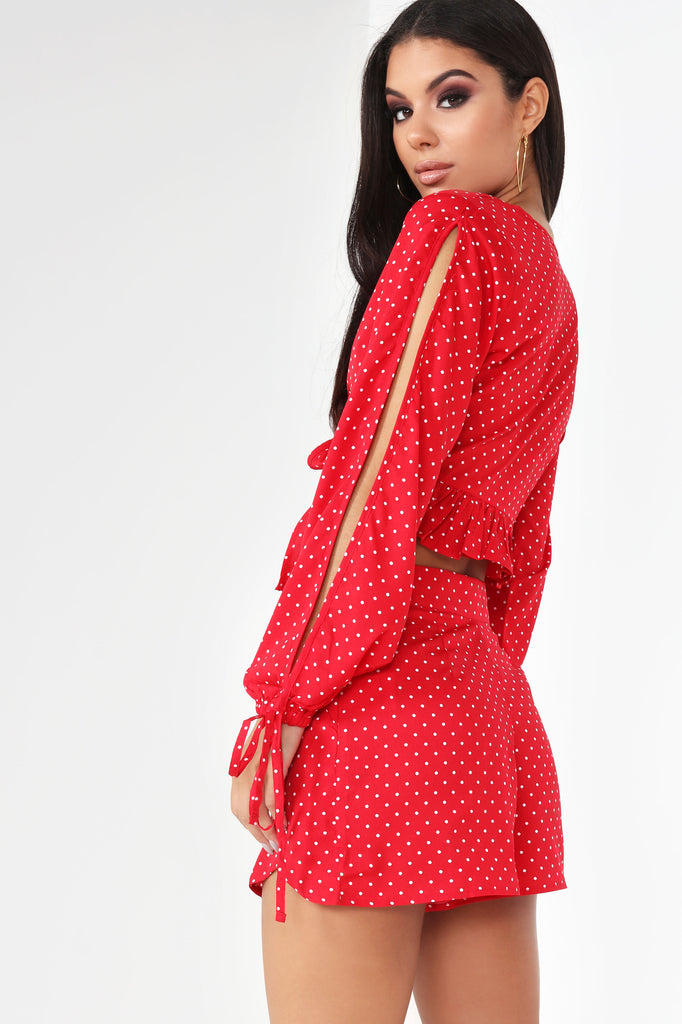 Connie Red Polka Dot Co-Ord