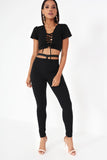 Corina Black Cut Out Trousers