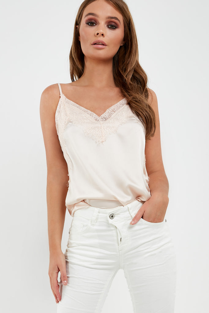 Daeva Blush Lace Camisole Top