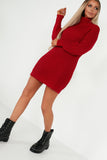 Dana Red Funnel Neck Jumper Dress