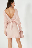 Danni Pink Batwing Knit Dress
