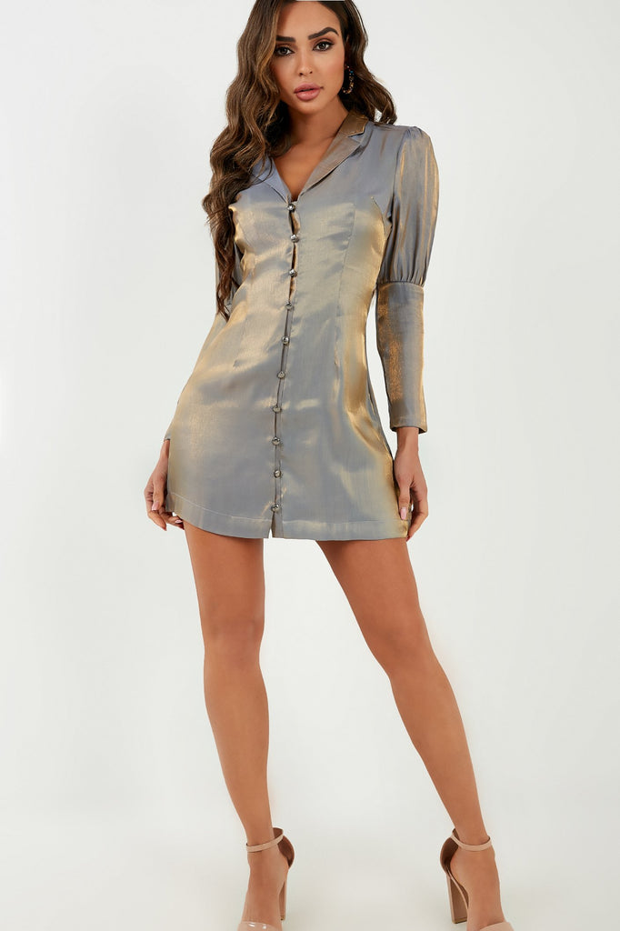 Danni Gold 2 Toned Shirt Dress