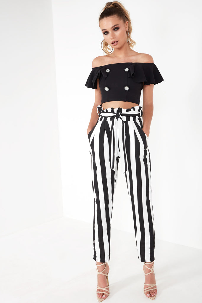 Darla Striped Monochrome Trousers