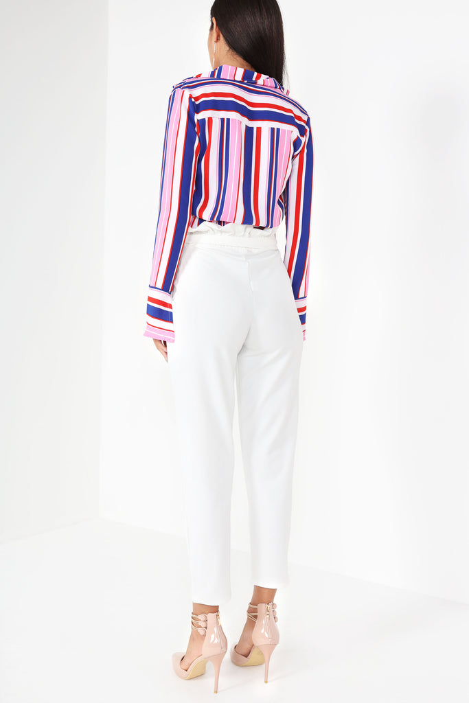 Darla White Paperbag Trousers