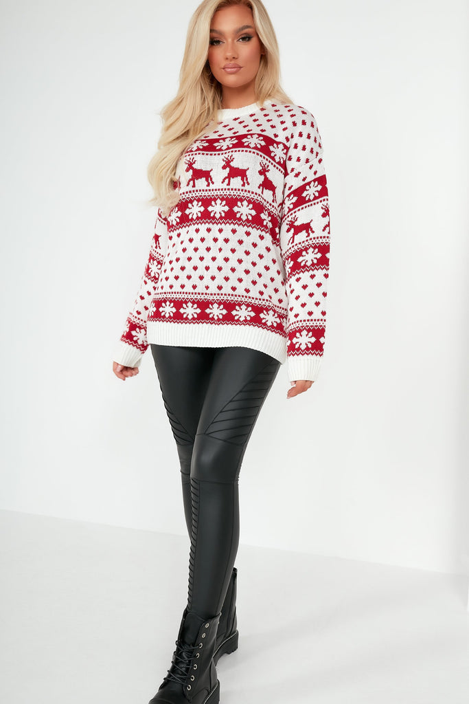 Dasher Cream Knit Christmas Jumper