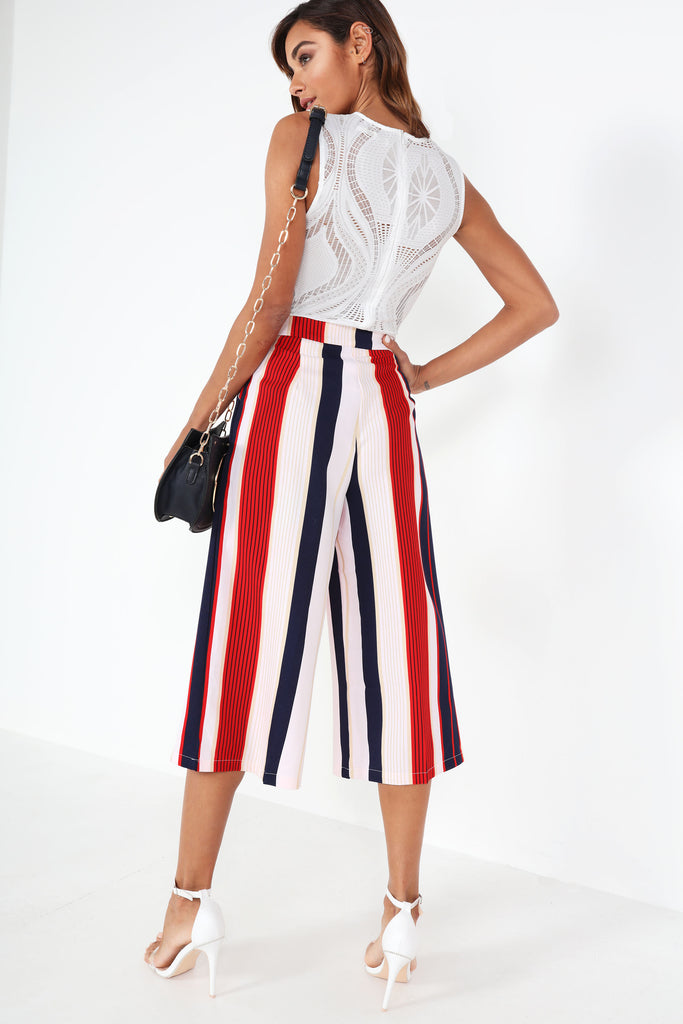 Davina Red Stripe Culottes