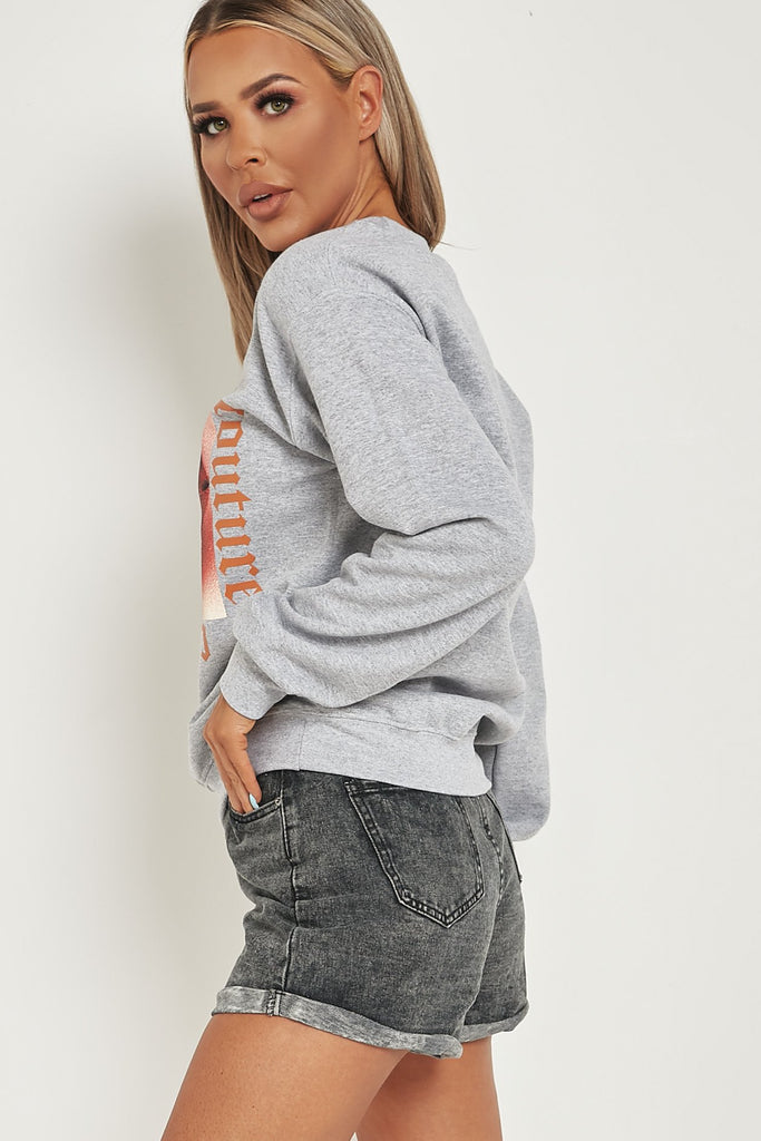 Denise Grey 'Couture' Graphic Sweatshirt