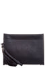 Julie Black Tassel Envelope Clutch Bag