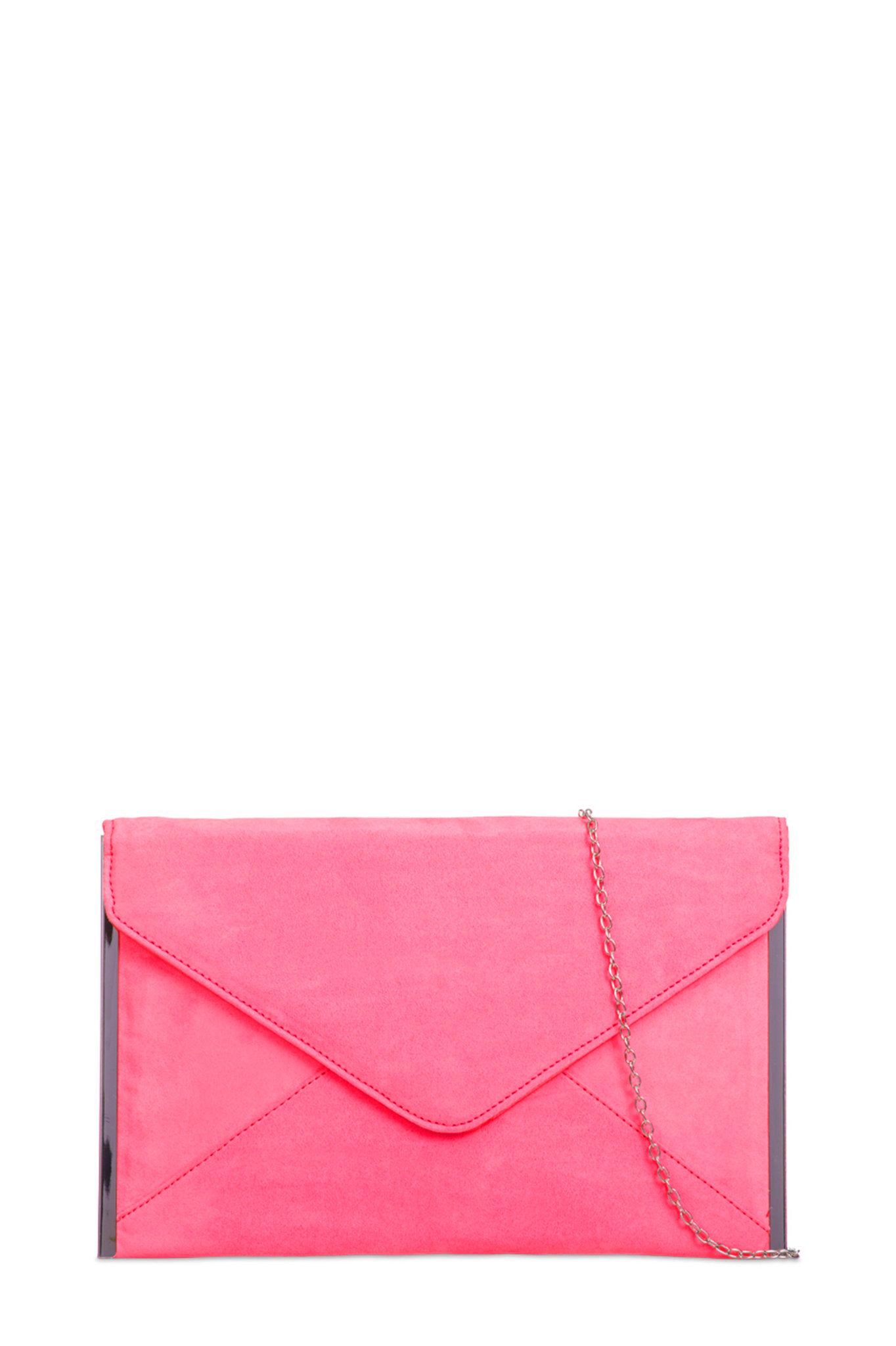 hot-selling genuine volume large Buy Authentic Dido Neon Pink Suede Envelope Clutch Bag