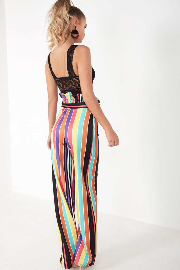 Dione Multi Striped Wide Leg Trousers