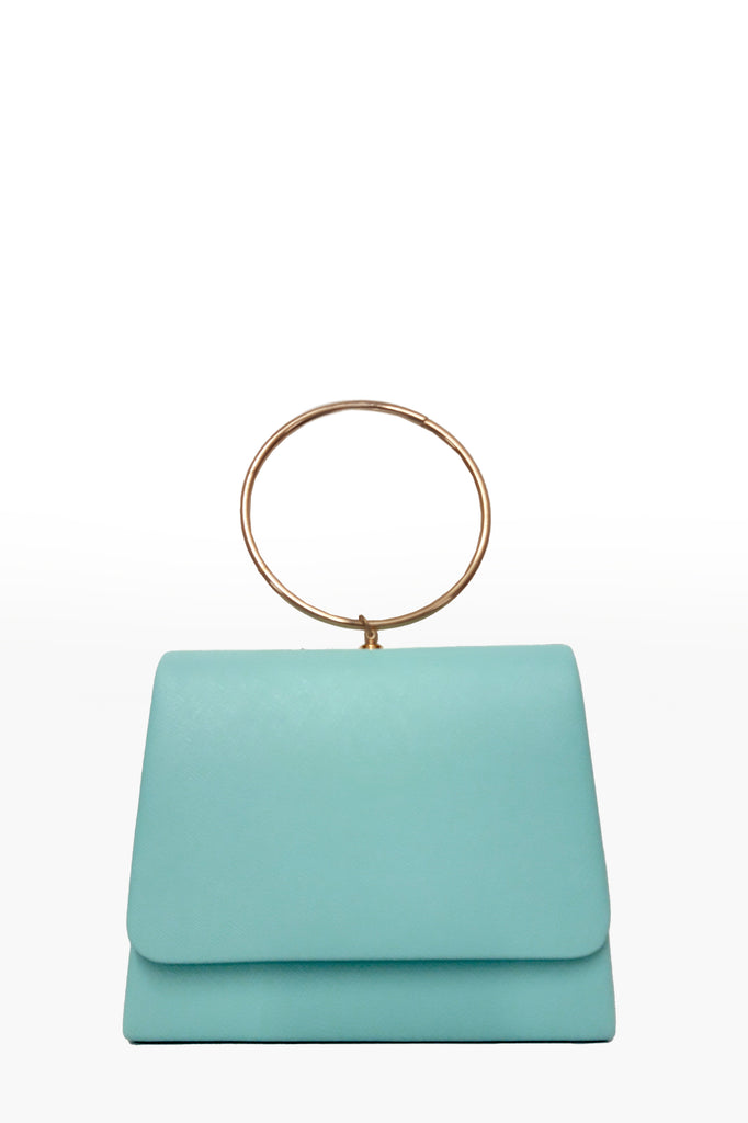 Dita Mint Leatherette Ring Handle Bag