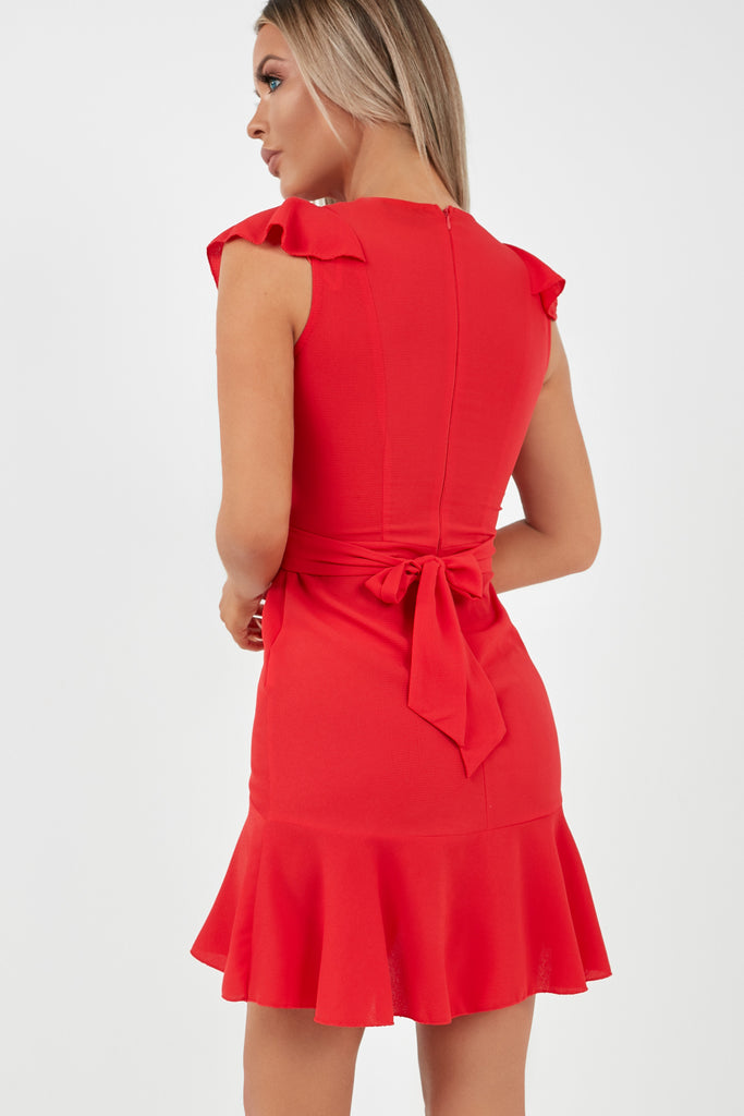 Dodi Red Frill Front Dress (2010669318210)