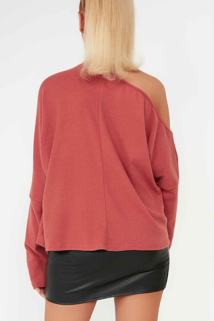 Doris Blush Cold Shoulder Top