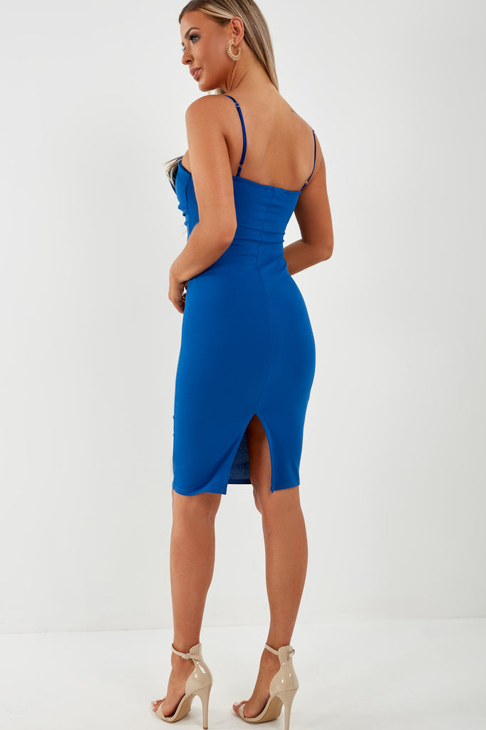 Eastah Blue Bow Front Dress