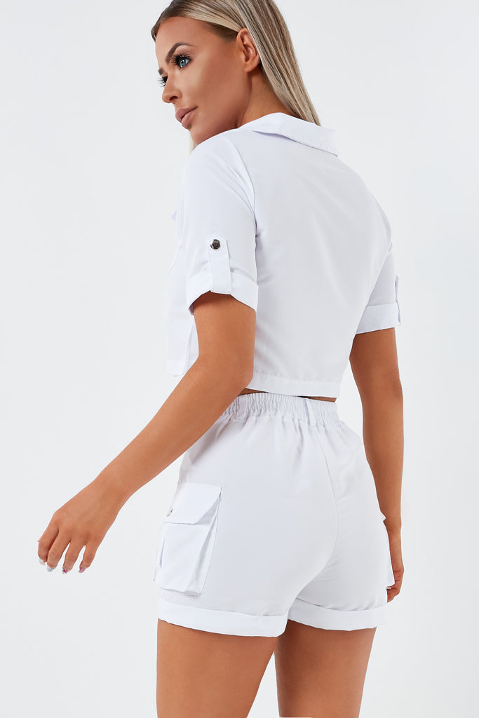 Edna White Utility Shorts Co Ord (1953093582914)