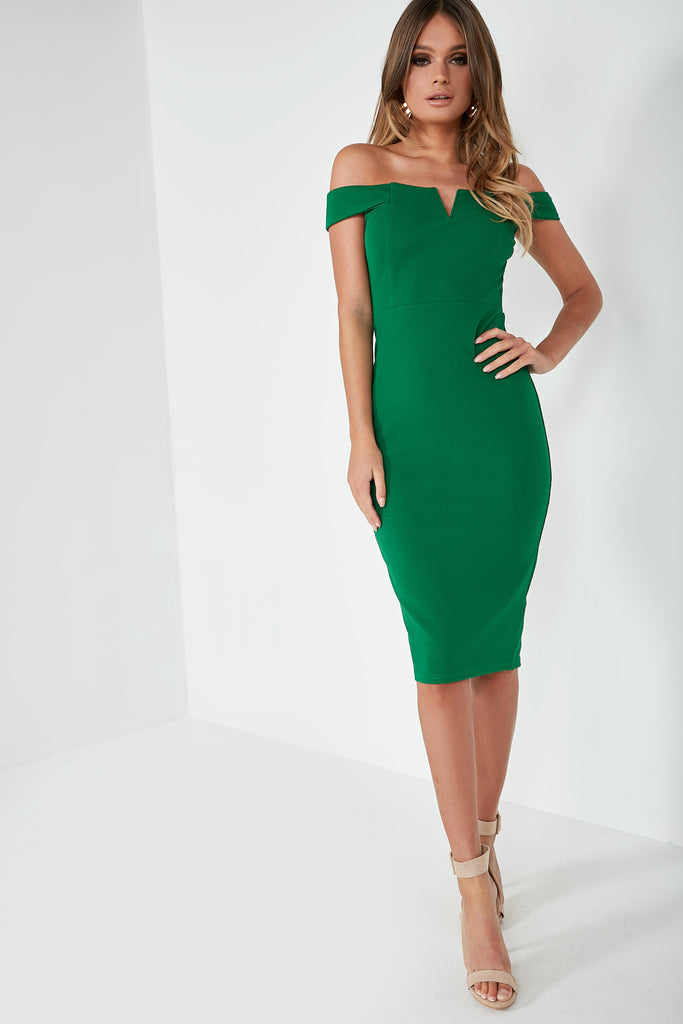 Ellie Green Bardot Midi Dress