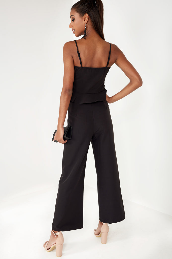 Elvie Black Wide Leg Trouser Co Ord