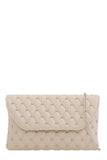 Emily Nude Studded Clutch Bag