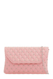 Emily Pink Studded Clutch Bag (88475598864)