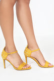 Erynn Yellow Studded Sandals