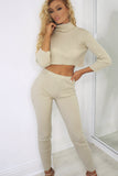Essie Stone Knitted Roll Neck Trouser Co Ord