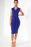 Estelle Blue Tuxedo Dress