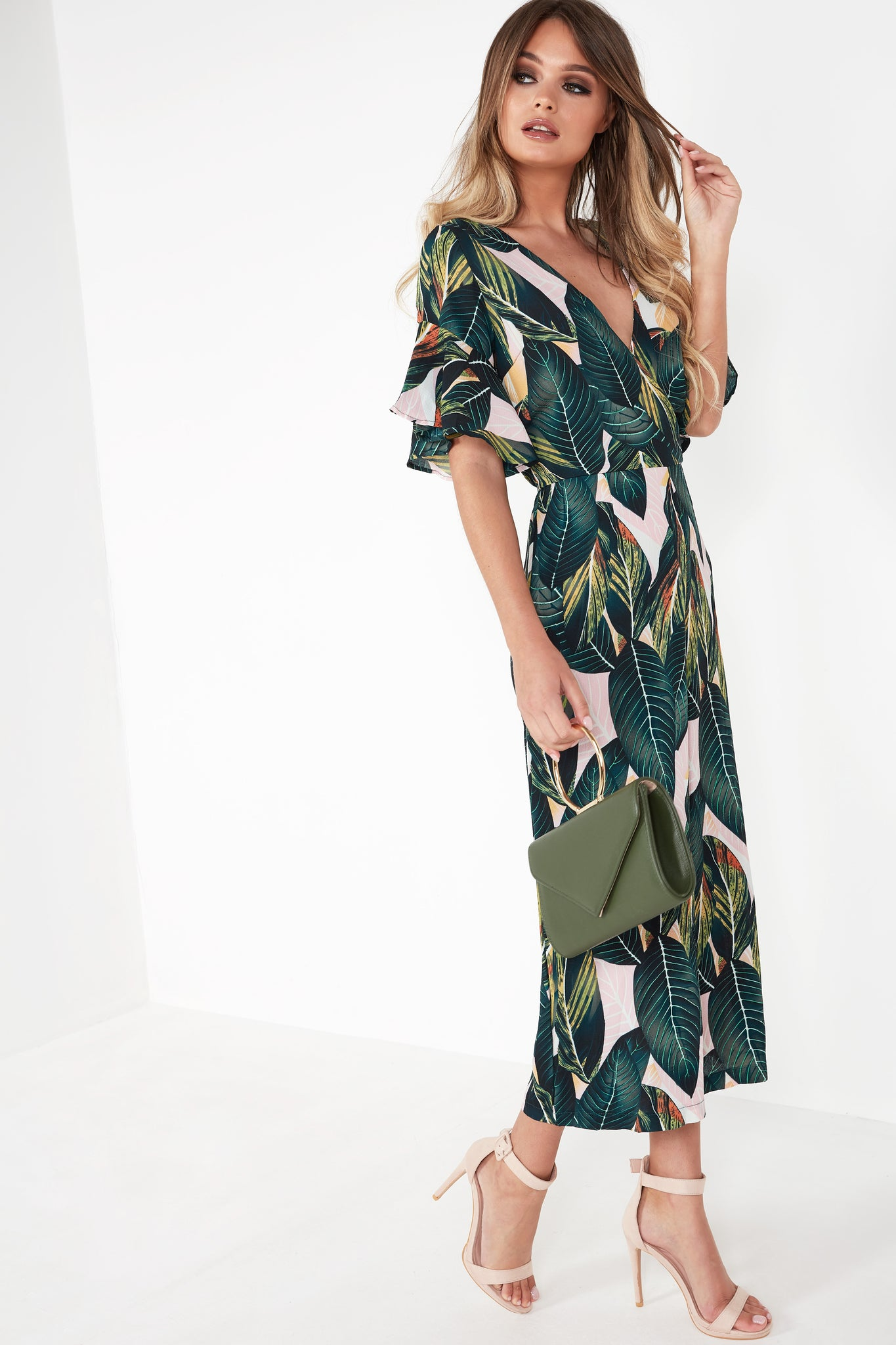 b3ae1ed33b Eva Green Leaf Print Jumpsuit. Next