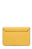 Eva Yellow Leatherette Chain Strap Bag