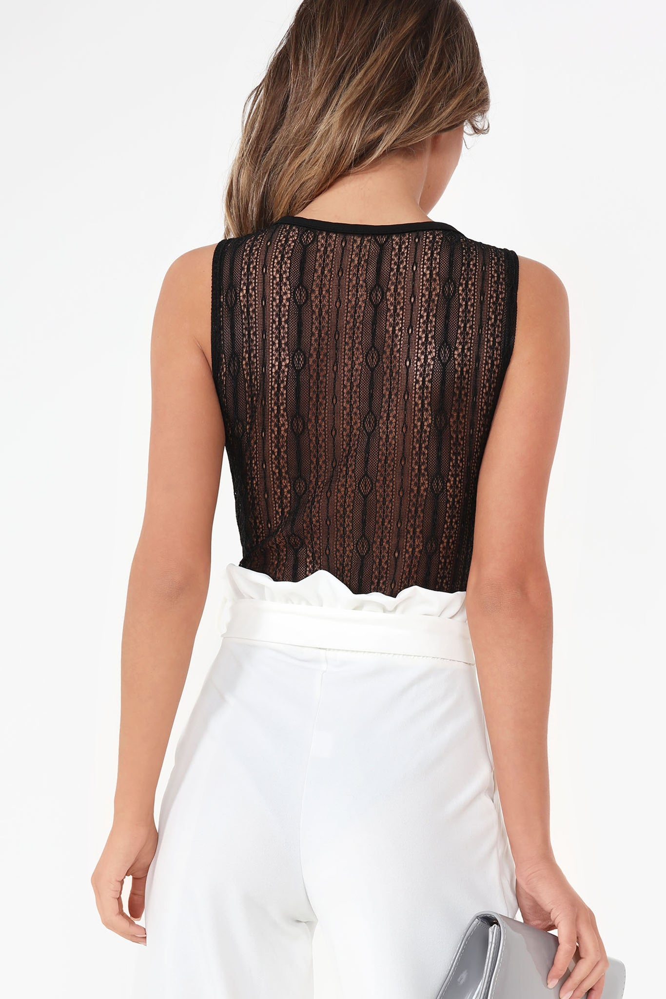 d3cf6813ad79 Fable Black Lace Panel Sleeveless Bodysuit. €15.00. Was €23.99. Previous
