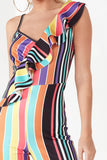 Fatima Multi Coloured Striped Jumpsuit