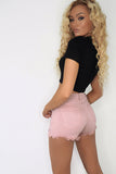 fia-blush-frayed-hem-denim-shorts