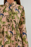 Floella Peach Jungle Print Shirt Dress