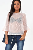 Florrie Light Pink Lattice Top
