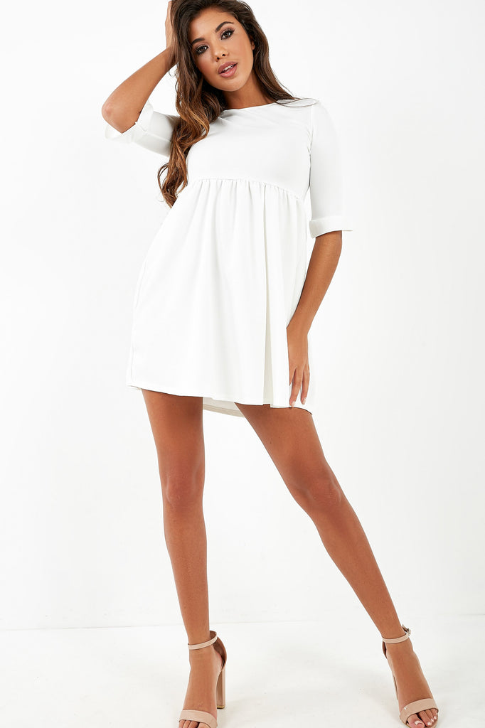Freja White Smock Dress (4286314414146)