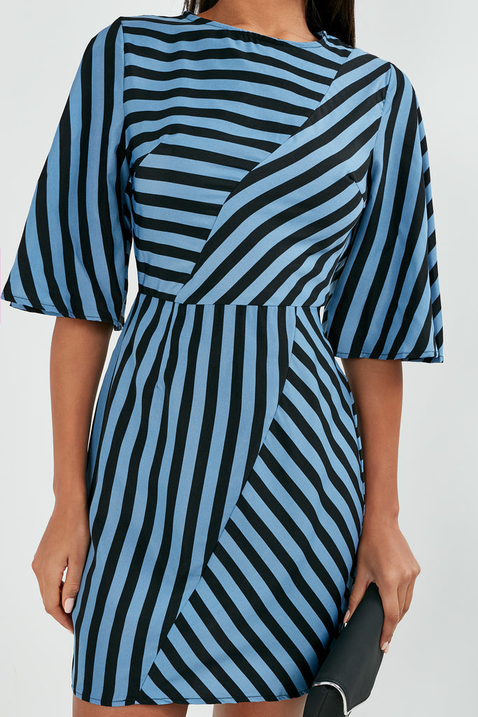 Gabriel Blue Striped Mini Dress