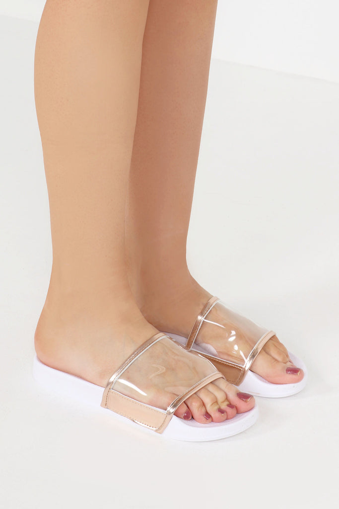 Georgia Rose Gold Perspex Sliders