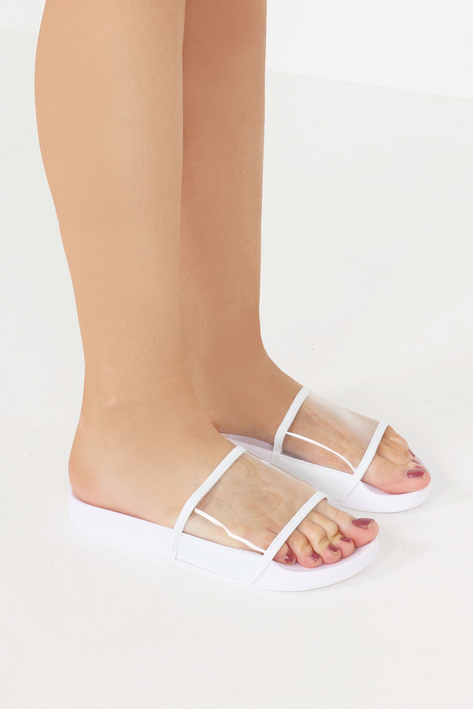 Georgia White Perspex Sliders