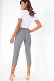 Geraldine Monochrome Gingham Crop Trousers