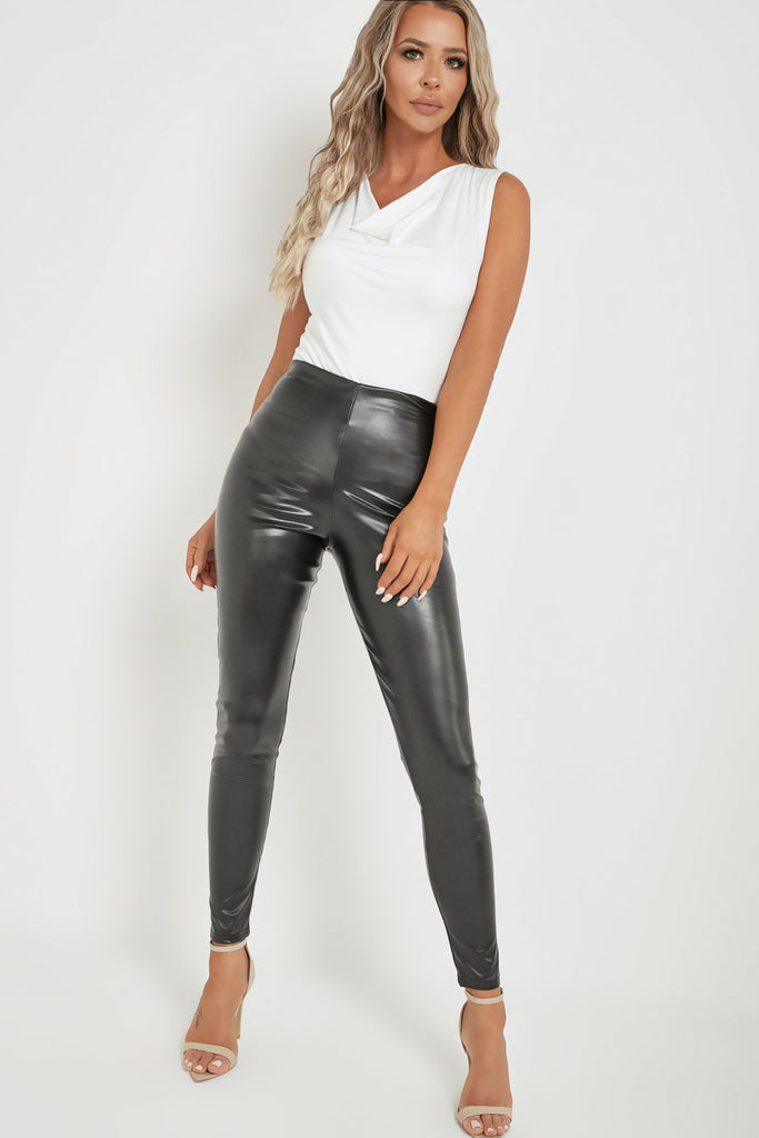 Gigi Black High Waist Pu Leggings