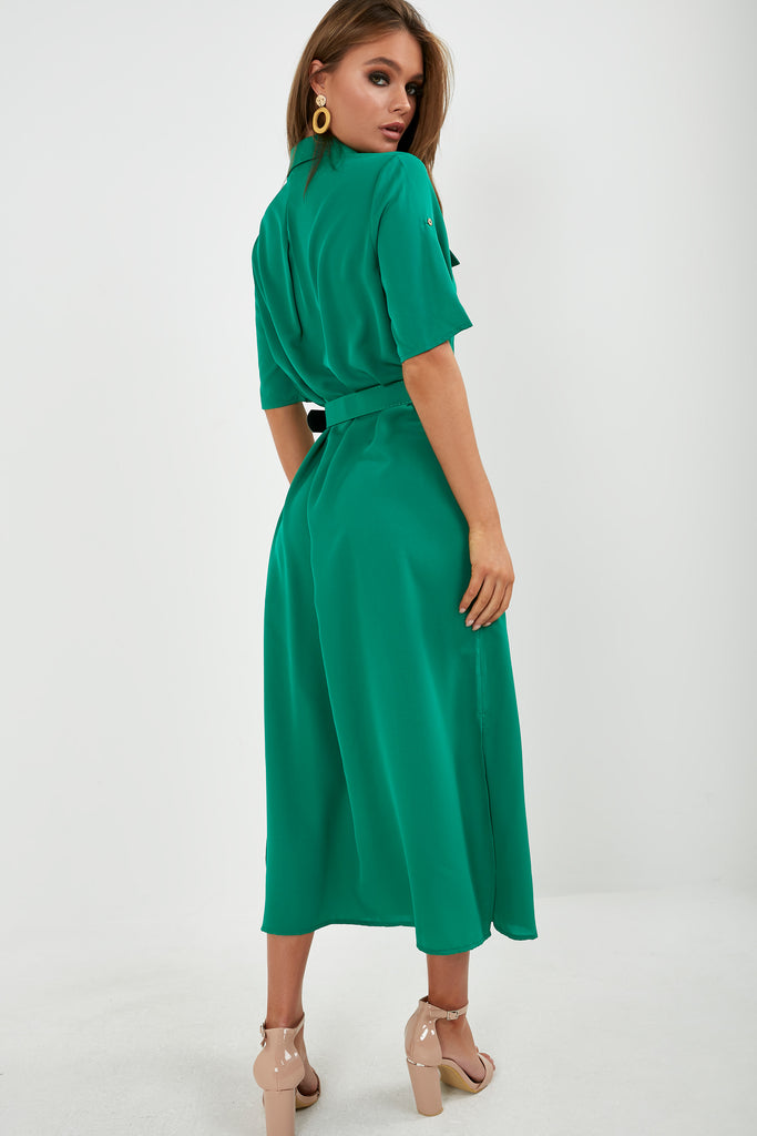 gigi-green-maxi-shirt-dress