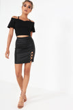 Gilly Black Crop Top